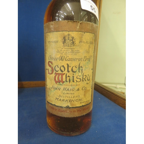 55 - Early Bottle of Haig Choice Old Cameron Brig Scotch Whisky