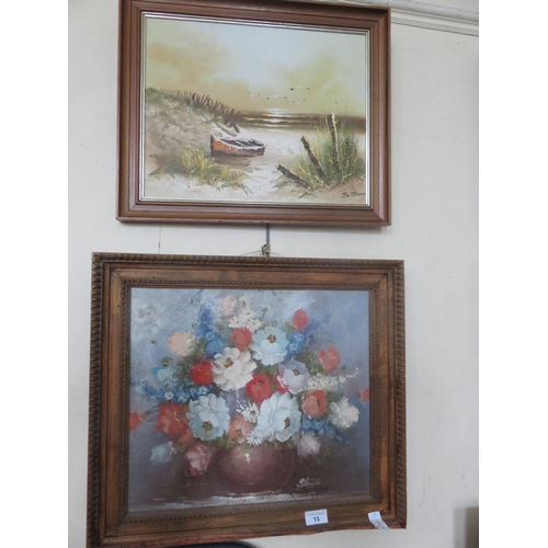 15 - Two Oil Paintings. S. Mento