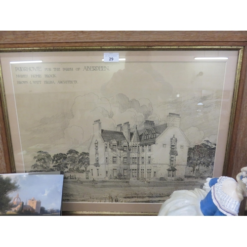 29 - Framed Picture of 2Poor House For Parish of Aberdeen