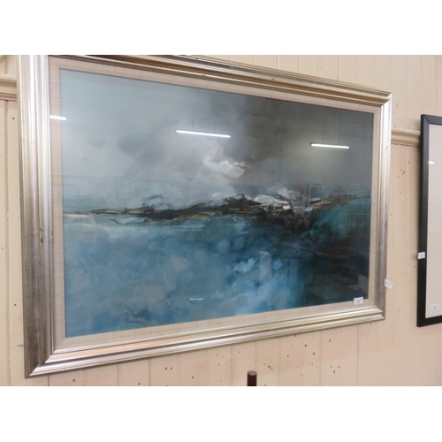 37 - Framed Oil painting, Bennachie, Somerville