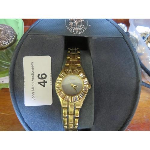 46 - Lady's Citizen Eco Drive Wrist Watch (boxed)