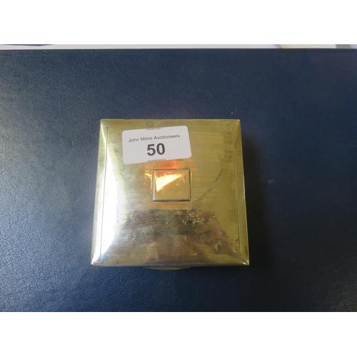 50 - Silver Cigarette Box