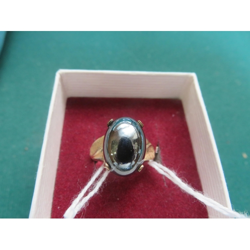 57 - Black Pearl Style Dress Ring