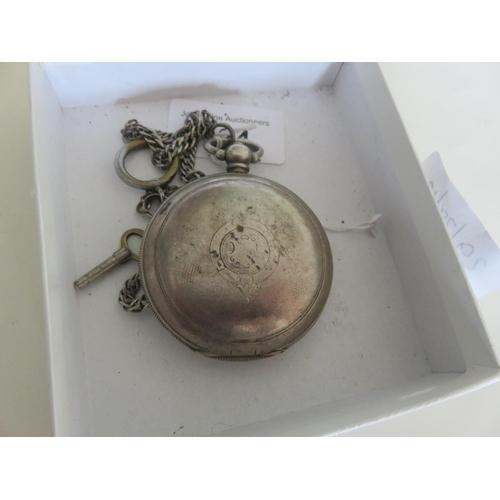 Billodes Silver Hunter Turkish Market Pocket Watch