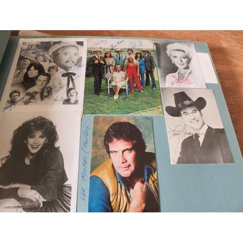 Comprehensive Album of Autographed Photographs, American Stars, Bob Hope, Liberace, Glen Campbell etc.