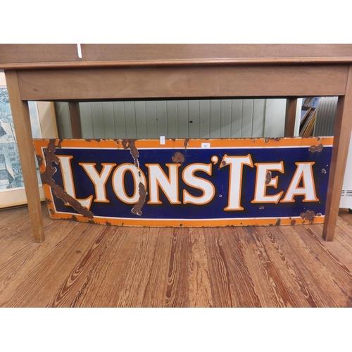 Large Metal Enamel Sign - Lyons Tea