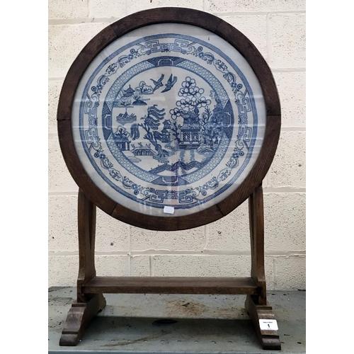 1 - Oriental Cross stitch table