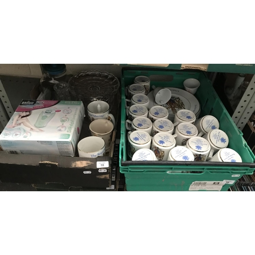 10 - 2 Boxes containing a large quantity of Royal marriage mugs etc