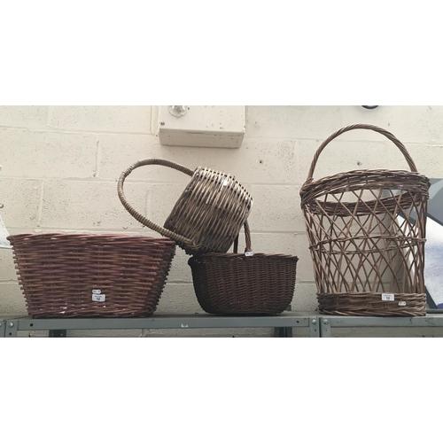 12 - 4 Wicker baskets