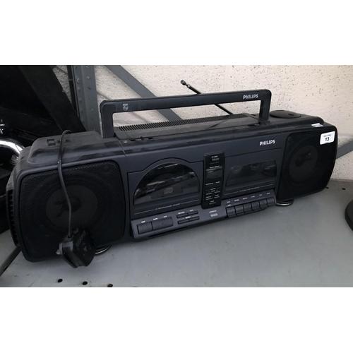 13 - Philips CD/ cassette player...