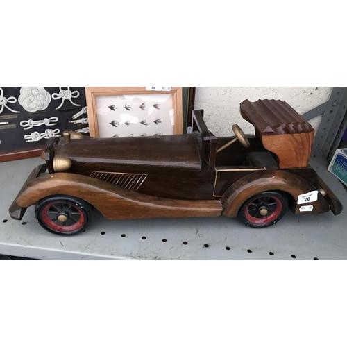 20 - Wooden model car (24