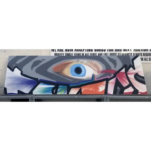 24 - Large original graffiti canvas (200cm x 60cm)