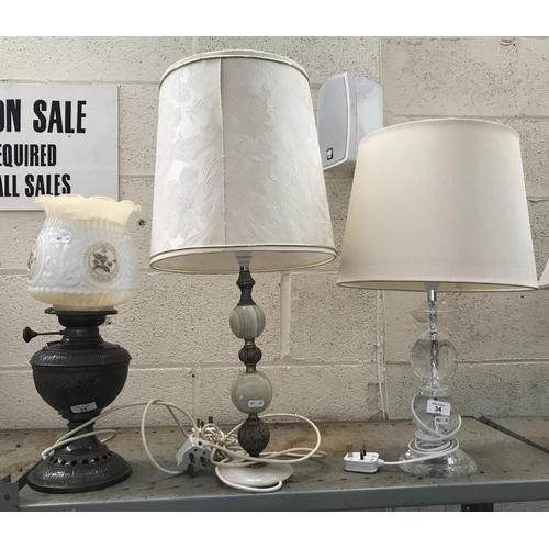 34 - 3 Decorative table lamps