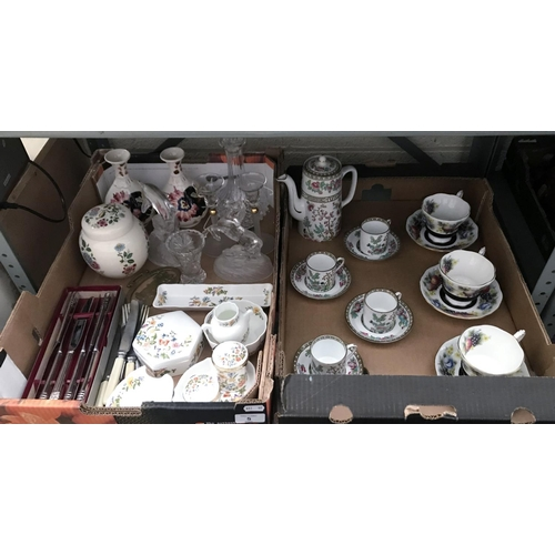5 - 2 Boxes containing an Oriental tea set and 3 Royal Albert