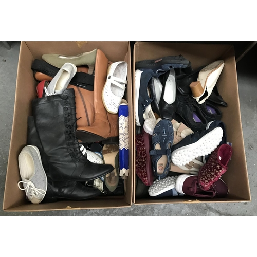 59 - 2 Boxes containing lady's shoes and trainers...