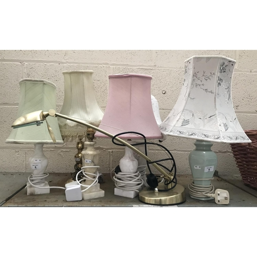 6 - 7 Table lamps...