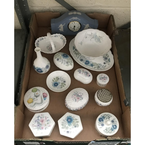 7 - Box containing Wedgwood and Royal Doulton etc...