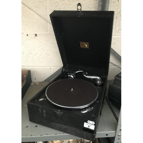 8 - HMV portable record player