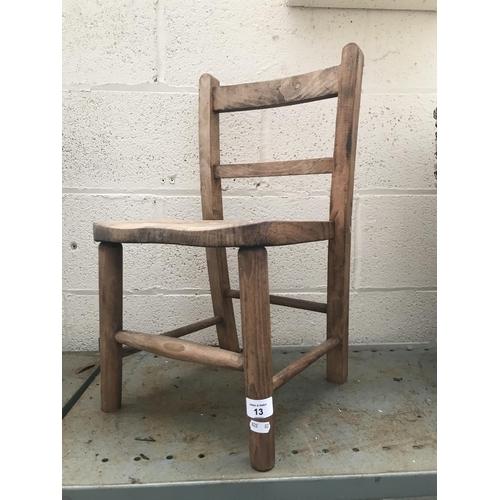 13 - Children's wooden chair