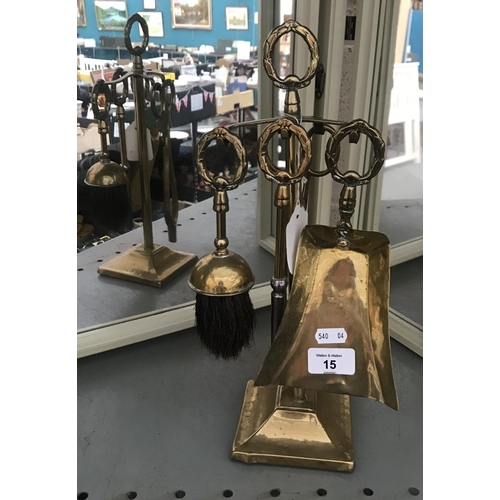 15 - Brass companion set