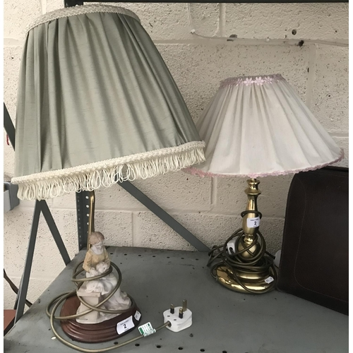 2 - 2 Ornate table lamps