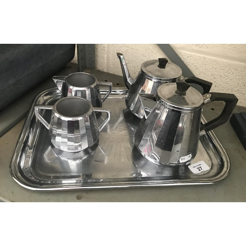 27 - Plated tea/ coffee set