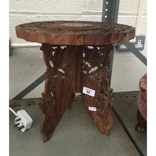 55 - Ornately carved stool