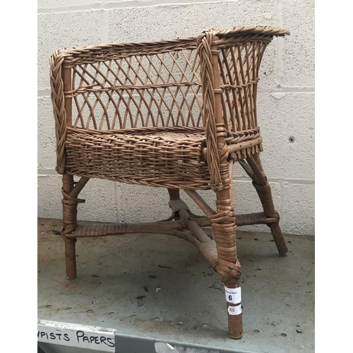 6 - Children's wicker chair