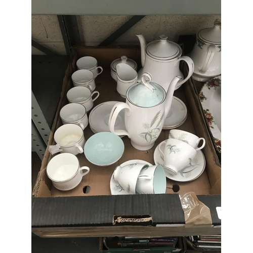9 - Box containing Royal Albert 'Festival' and an Indian tea service
