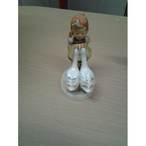 26 - Goebels Girl with Geese Figurine...