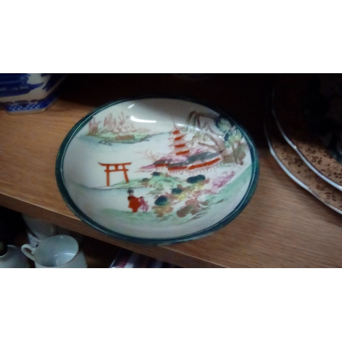 11 - Rare Signed Lady & Child Antique Oriental Plate...