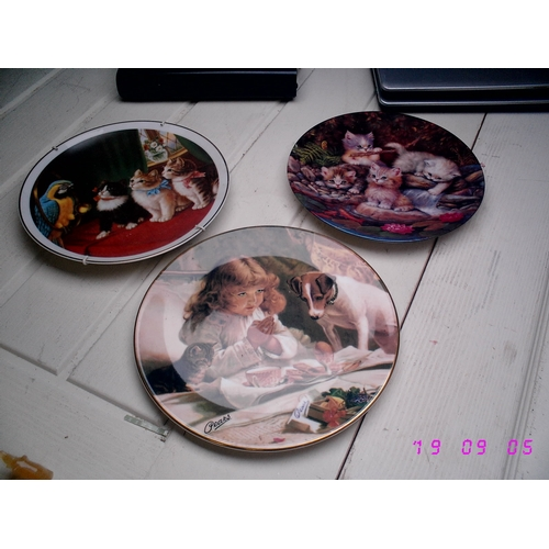 23 - THREE COLLECTABLE PLATES INCLUDING PEARS ETC...
