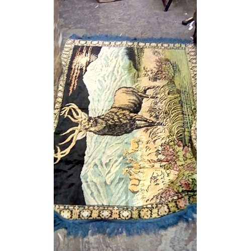 53 - Very Nice large Monarch Of The Glen Wall Hanging or rug 4 feet by 2 & half feet...