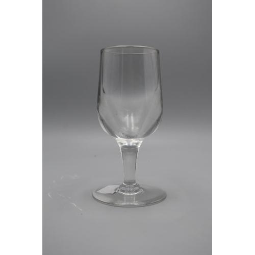 4 - Late Victorian Georgian Wine Glass (ch89)...
