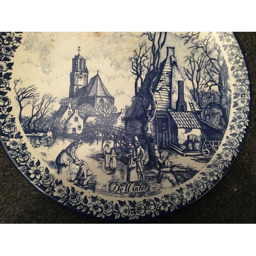 9 - LOVELY DELFT WINTER BLUE & WHITE CHARGER...