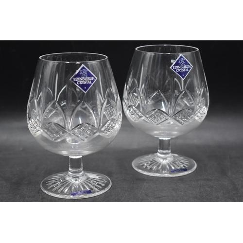 16 - LOVELY Pair of Edinburgh Crystal Brandy Glasses...