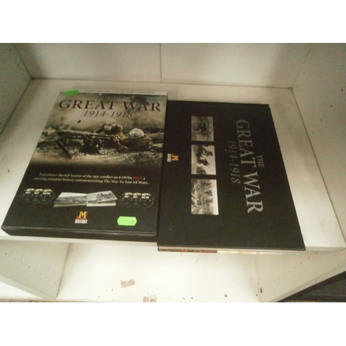 18 - Military History The Great War 1914-1918 book and DVD set...
