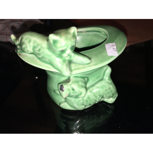 24 - RARE SYLVAC DOG AND CAT VASE LOVELY CONDITION (427)...