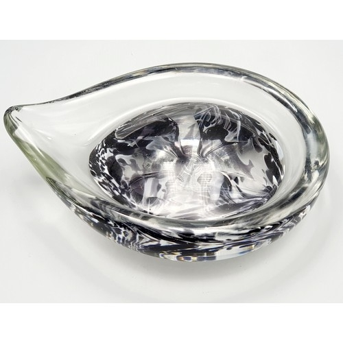 27 - LOVELY A Liskeard Glass Paper Weight Approx 16cm in Length x 21.5cm Wide Impressed LG Mark to Base (...