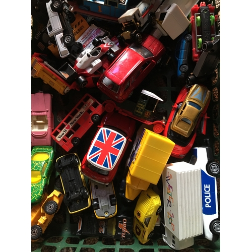 10 - CRACKING BOX OF PLAY WORN CARS...