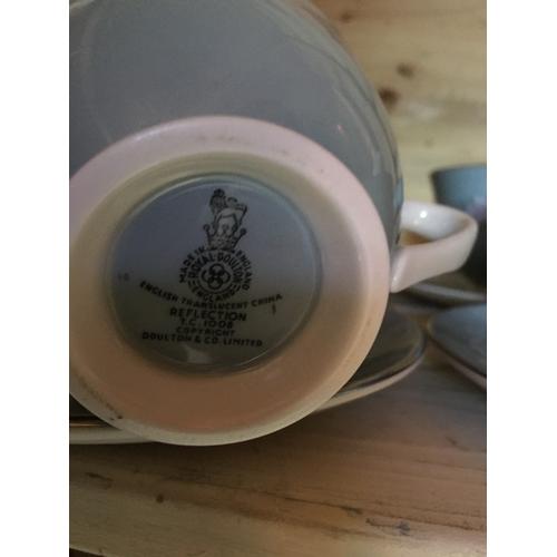 11 - LOVELY 13 piece Doulton '' REFLECTION'' tea set...