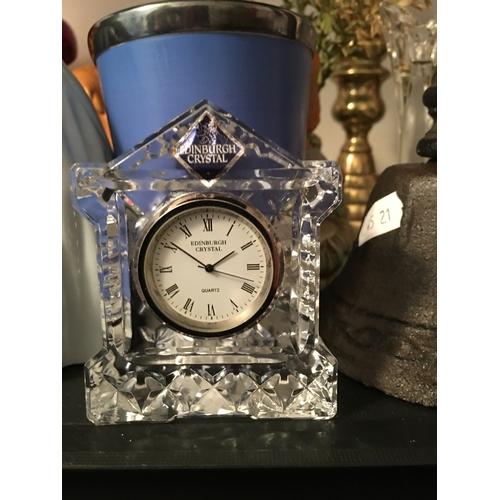 2 - LOVELY Edinburgh Crystal Miniature Clock In Presentation Box...