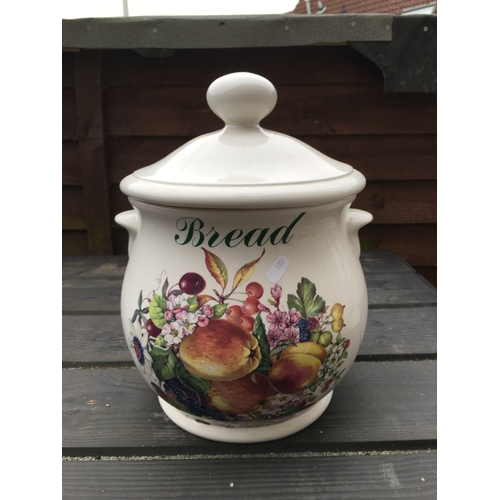 37 - NICE LARGE CERAMIC BREAD CROCK IN NICE CONDITION