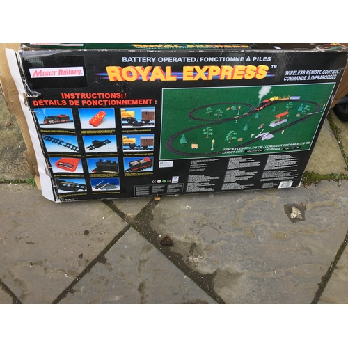 46 - BOXED Royal Express toy train set  (Appears Seles inside?, )