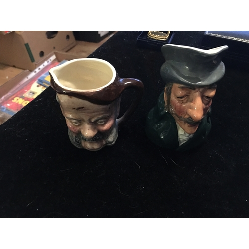 27 - TWO CHARACTER JUGS IN LOVELY CONDITION