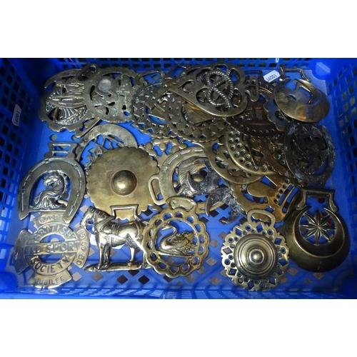 39 - Antique horse brasses etc...