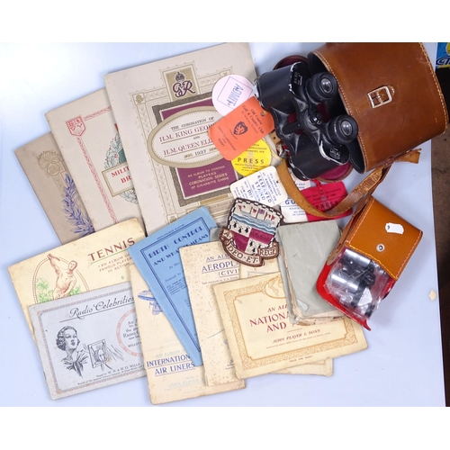 6 - Binoculars, cigarette cards etc...
