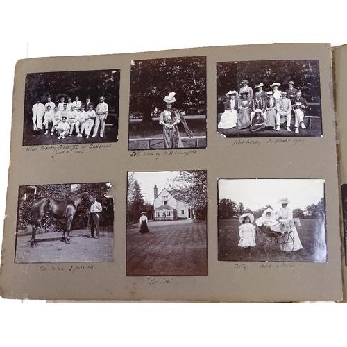 30 - A fascinating album of original photographs circa 1898 - 1919, depicting scenes and family figures a...