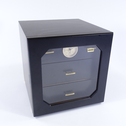 58 - A 3 drawer Adorini humidor, containing 10 Partagas 898 varnished 2012, 11 Partagas Lusitanas 2012, 5...