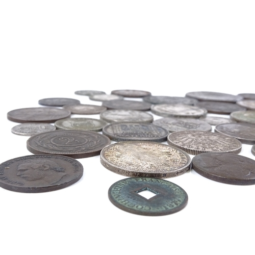 48 - A collection of European silver and copper coins...